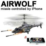 Iphone contrôle hélicoptère rc, hélicoptère de griffon. loup