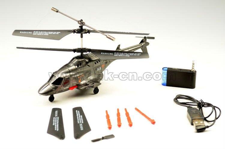 El iphone de control del helicóptero del rc, lobo para helicóptero griffin