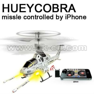 iphone contrôle hélicoptère de rc avec la fonction de tir de missile
