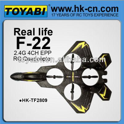 2.4g 4ch f22 modelo de avión con el girocompás aviones para la venta del modelo de avión