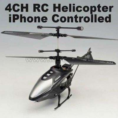 Mini 4ch 2.4g iphone rc helicóptero con luz led- iphone controlado