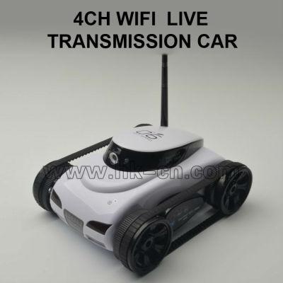 El iphone tanque de control con la cámara, wifi tanque del coche