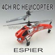 4 del canal de la vida real del rc helicóptero con el girocompás y de control de radio
