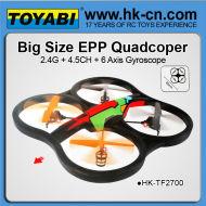 Enorme 2.4g ppe rc ovni parrot ar drone ar drone de aviones no tripulados rc helicóptero de aviones no tripulados