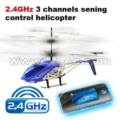 2.4g Émetteur 3 sening canaux de commande mini hélicoptère rc