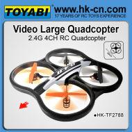 La cámara 2.4g ovni ar 2.0 de aviones no tripulados drones aviones no tripulados de giro del helicóptero