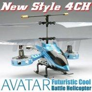 De estilo avatar 4-ch mini helicóptero del rc juguetes de la serie de metal con el girocompás