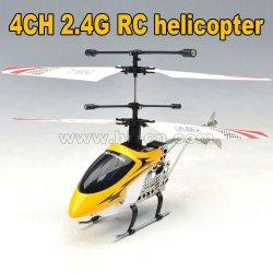 2012 chaude mini 4ch 2.4g rc hélicoptère avec la lumière led