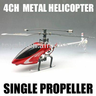 Rc hubschrauber, einzigen propeller hubschrauber 4ch metall
