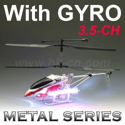 Rc hubschrauber, rc 3.5- kanal metall-serie hubschrauber mit gyro und leds licht