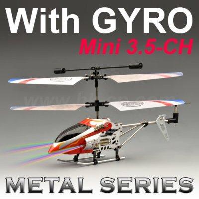 Mini hélicoptère de rc en métal avec le compas gyroscopique 3.5-ch série