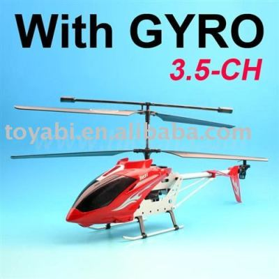 Juguete del helicóptero, 3.5 metal canal rc helicóptero con el girocompás