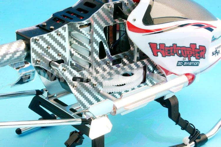 3 3 canal rc helicóptero ch con luz led