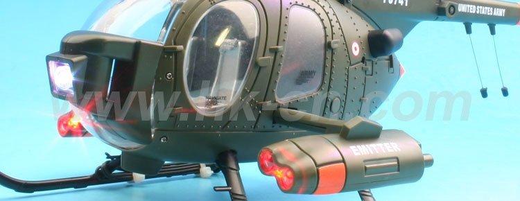 3 canal de doble rotor del helicóptero con intermitente del rotor