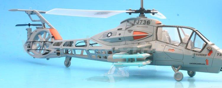 3 canal de doble rotor kamanche rah-66 helicóptero conintermitente del rotor