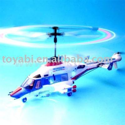 3 doble canal flywolf del rotor del helicóptero del rc con intermitente del rotor