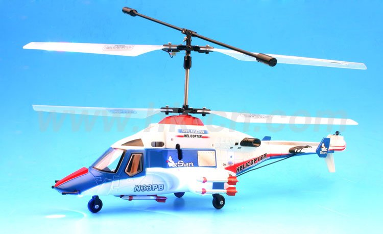 double rotor flywolf 3 canal rc avec clignotants rotor