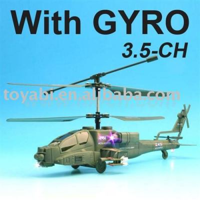 3.5- canal rc helicóptero con el girocompás