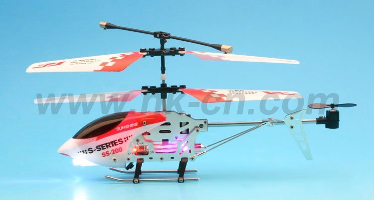 Mini 3- canal rc helicóptero con el girocompás