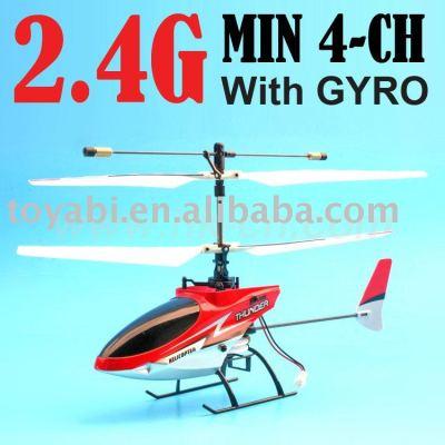 2.4g 4-ch mini rc helicóptero con el girocompás y usb