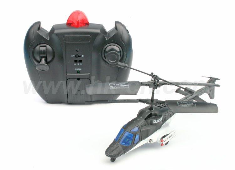 de la vida real helicóptero de control remoto de estilo con el girocompás