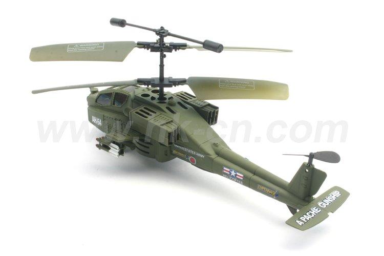 Las luces led de la vida real del helicóptero del rc, de combate apache