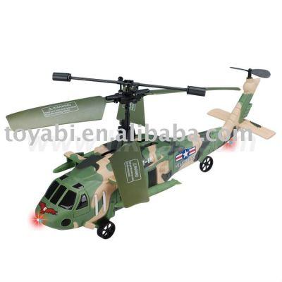 mini de la vida real del helicóptero del rc de estilo con el girocompás