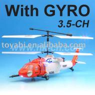 3.5-ch rc hélicoptère avec gyro