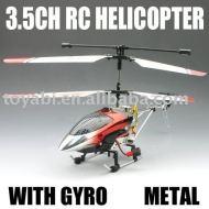 Helicóptero del rc, rc 3.5ch serie de metal helicóptero con el girocompás