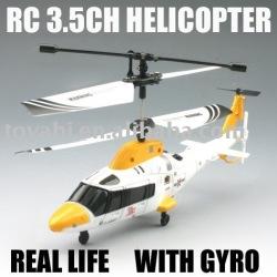 control de infrarrojos de la vida real del helicóptero del rc