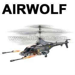 el más reciente 3 canal de tiro de misiles del helicóptero del rc con la lucha contra el sonido