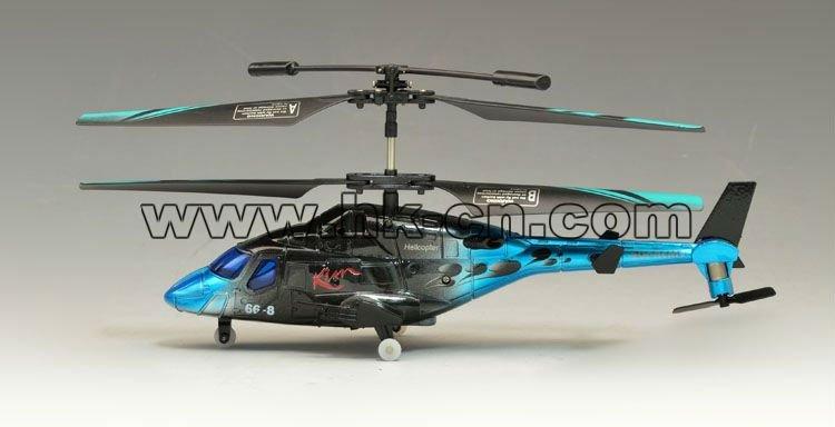 Control de infrarrojos de la vida real del rc helicóptero con el girocompás& auto función de demostración