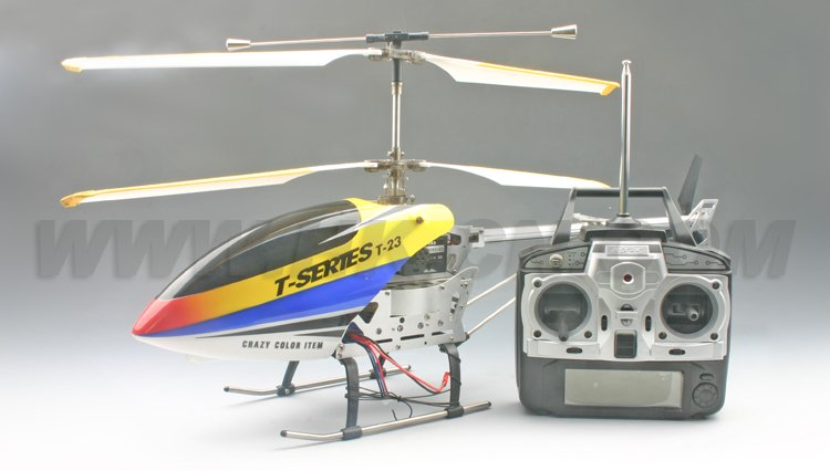 gran helicóptero del rc con pantalla lcd del transmisor