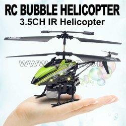 3.5 canal de metal helicóptero del rc de la burbuja con la función de soplado