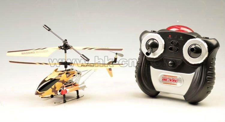 de metal helicóptero del rc de misiles con función de disparo
