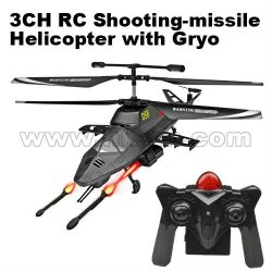 el disparo de misiles de la vida real del helicóptero del rc