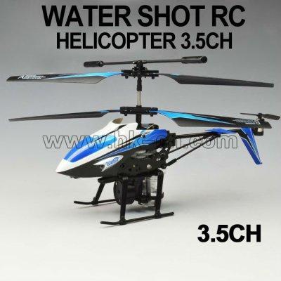 Disparo de agua 3.5 canal rc helicóptero hk-tf2357a