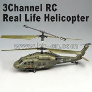 3ch télécommande uh-60 hawk real vie hélicoptère avec le compas gyroscopique