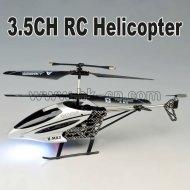 3 canal rc helicóptero con la linterna