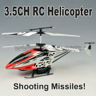 De tir de missile 3.5 channel rc hélicoptère