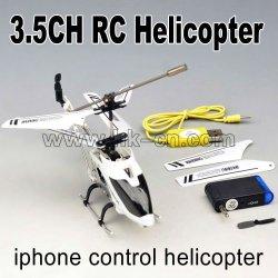 el iphone controlados 3ch mini rc helicóptero con el girocompás