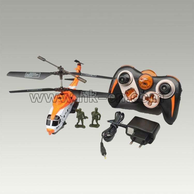 Estilo de rescate de la vida real del helicóptero del rc con dos títeres/marionetas