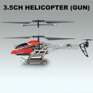 Rc hélicoptère en métal de tir de missile 3.5ch