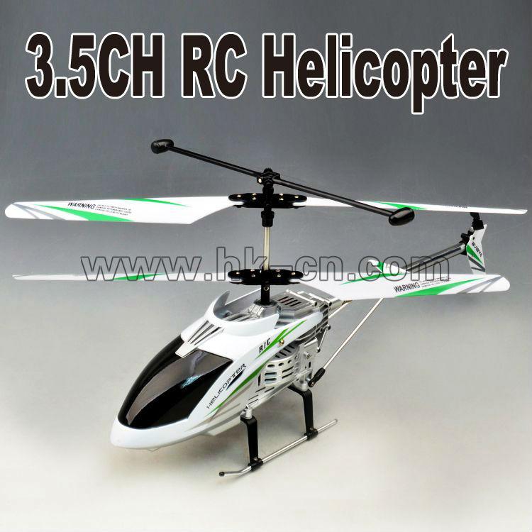 Helicóptero del rc, rc 3.5- canal de la serie de metal helicóptero con el girocompás y leds de luz