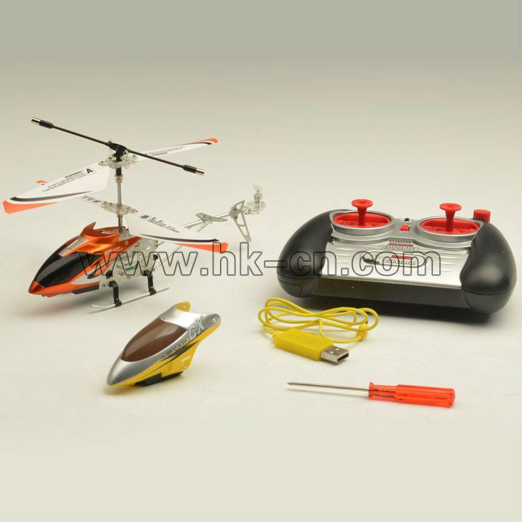3.5ch mini rc helicóptero con luces& auto- demo