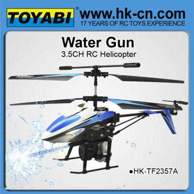 Disparo de agua 3.5 canal rc helicóptero de venta al por mayor