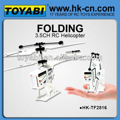 Heli 3.5ch cubo plegable helicóptero similar diseño silverlit