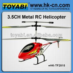 30cm 3.5 canales de aleación de serie rc helicóptero con auto demo