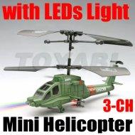 3- kanal mini rc hubschrauber mit led licht