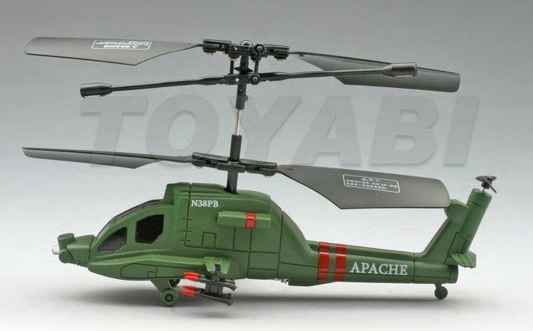 3- canal mini helicóptero del rc con la luz led